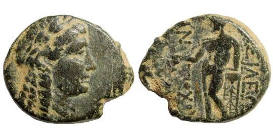 Ancient Coins - Seleucid Kings, Antiochus Hierax, 241-228 BC. AE 17mm (2.95 gm). SNG Spear 489