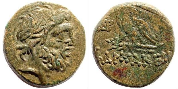 Ancient Coins - Pontos, Pharnakeia. Circa 85-65 BC. AE 19mm (8.10 gm). SNG Copenhagen 224