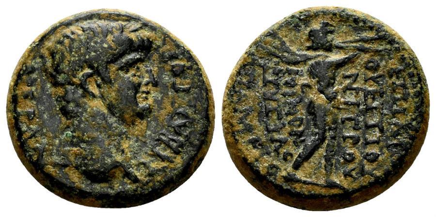 Ancient Coins - Phrygia, Apameia. Nero. 54-68 AD. M. Vettios Nigros. 54-59. AE 18mm (6.23 gm). RPC I 3137