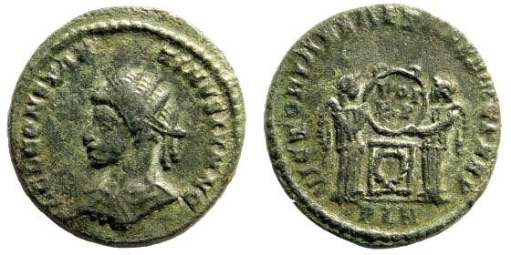 Ancient Coins - Constantine II, as Caesar. 317-340 AD. AE3 (2.95 gm, 17mm). Londinum, 320 AD. RIC 181