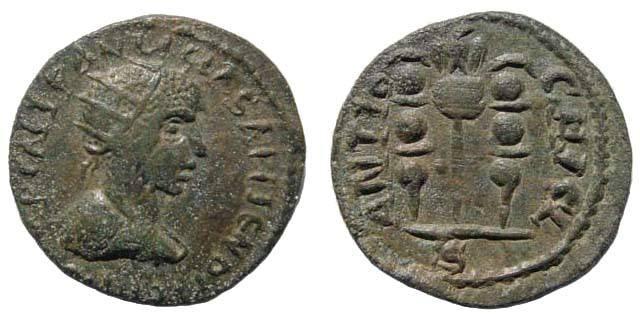 Ancient Coins - Pisidia, Antioch. Gallienus 253-268 AD. AE 23 (5.80gm). Lindgren/ Kovacs 1256