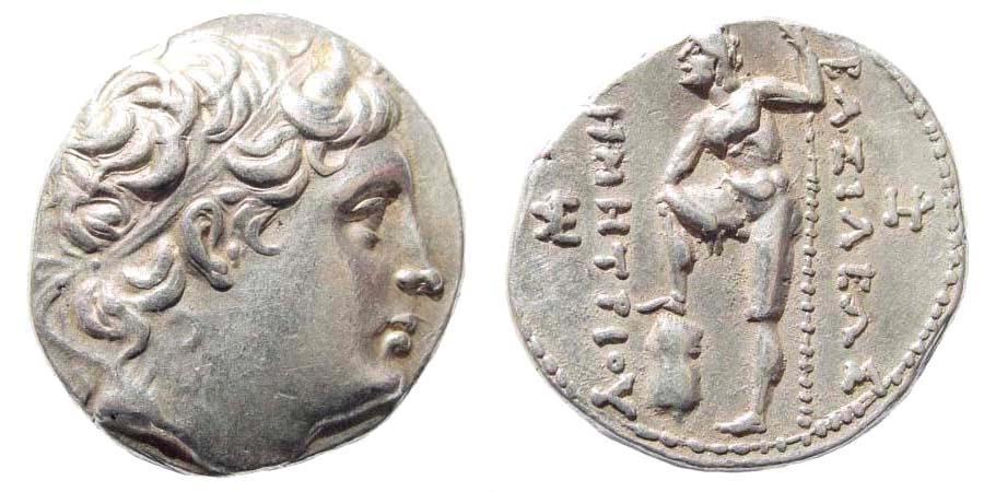Ancient Coins - Demetrios Poliorketes, 306-283 BC. AR Tetradrachm (17.16 gm, 28mm). Newell-90