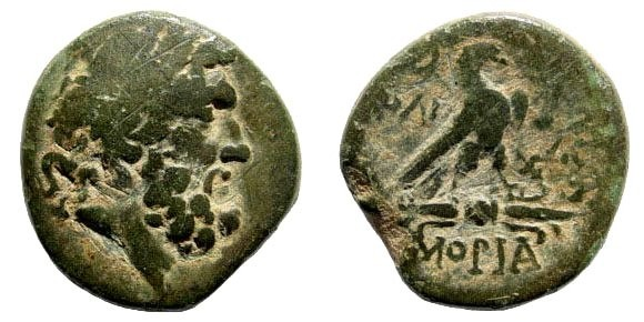 Ancient Coins - Phrygia, Amorion. Circa 2nd-1st century BC. AE 21mm (7.42 gm). SNG Copenhagen 116