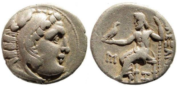 Ancient Coins - Macedonian Kings. Alexander III the Great. 336-323 BC. AR Drachm (4.04 gm, 18mm). Abydos mint. Struck circa 310 - 297 BC. Price 1528