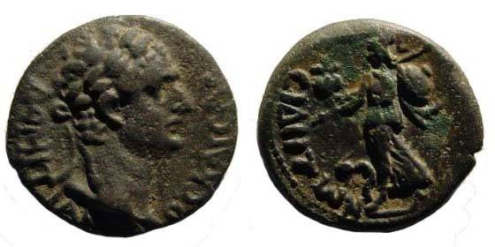 Ancient Coins - Pamphylia, Side, Domitian, Athena, AE 17