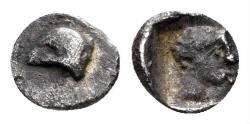 Ancient Coins - Asia Minor. Uncertain. 5th century BC. AR Hemitetartemorion (0.12 gm, 5.5mm). Unpublished (?)