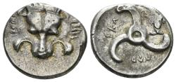 Ancient Coins - Lycian Dynasts. Perikles. Circa 380-360 BC. AR Third Stater (3.16 gm, 16mm). SNG von Aulock 4256