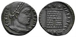 Ancient Coins - Constantine I. 307/310-337 AD. AE Nummus (3.06 gm, 17mm). Cyzicus mint, 325-326 AD. RIC VII 34
