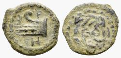 Ancient Coins - Judaea, Herodians. Herod Archelaus. 4 BC-6 AD. AE Lepton (1.15 gm, 14mm). RPC I 4916