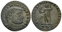 Ancient Coins - Licinius I. 308-324 AD. AE Follis (3.56 gm, 23mm). Thessalonica mint. Struck 312-313 AD. RIC VI 60