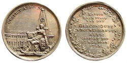 World Coins - Netherlands. 1783. AR Medal (14.07 gm, 34mm). Made by Lageman. For the 100 year existence of the home for the elderly in Amsterdam. Brett coll. 3200