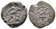 Ancient Coins - Judaea, Herodians. Herod I the Great. 40-4 BC. AE Double Prutah (4.50 gm, 19mm). Meshorer 41