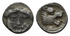 Ancient Coins - Pisidia, Selge. Circa 250-190 BC. AR Hemiobol (0.50 gm, 8mm). SNG Aulock 5275