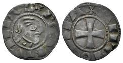 World Coins - Crusaders, Antioch. Bohémond III. Minority, 1149-1163. BI Denier (1.00 gm, 16mm). Metcalf, Crusades 355