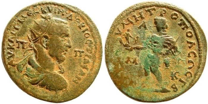 Ancient Coins - Kilikia, Tarsos. Trajan Decius. 249-251 AD. AE 33mm (20.97 gm). SNG BN Paris 1758 (same dies)