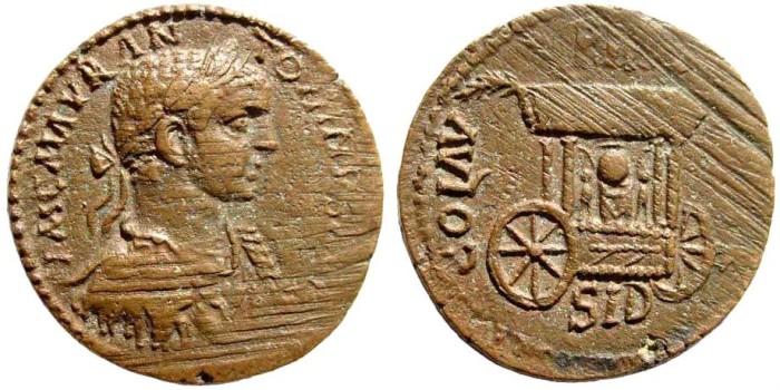 Ancient Coins - Phoenicia, Sidon. Elagabalus. 218-222 AD. AE 29mm (18.32 gm). SNG Copenhagen 256, Lindgren III 1446