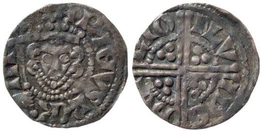 Ancient Coins - Medieval England. Henry III, 1216-1272. AR Penny (1.16 gm). Longcross Coinage with septre (1247-1272). Type 5c