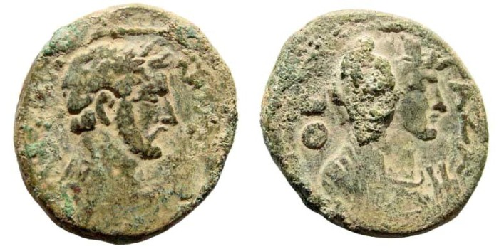 Ancient Coins - Judaea, Gaza. Antoninus Pius, 138-161 AD. AE 30mm (25.96 gm). Dated CY 209, 148/9 AD. Yashin, Ascalon to Raphia, 431