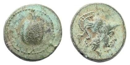 Ancient Coins - Pamphylia, Side. 1st century BC. AE 11mm (1.37 gm). SNG von Aulock 4804