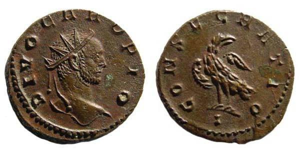 Ancient Coins - Carus, Antoninianus, Eagle