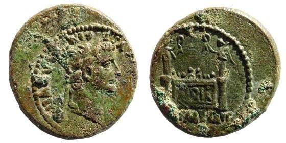 Ancient Coins - Tiberius, 14 – 37 AD, under Augustus, 27 BC – 14 AD. AE Semis (5.02 gm). Lugdunum, circa 12-14 AD.  Cohen 236; BMC 565; Giard Lyon 95