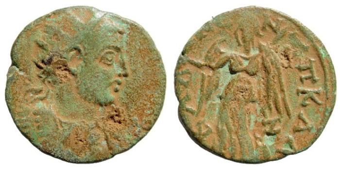 Ancient Coins - Cilicia, Seleucia ad Calycadnum. Gallienus. 253-268 AD. AE 25mm (9.83 gm). Cf. SNG Levante 787 (same obverse die)