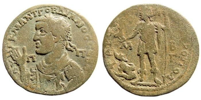 Ancient Coins - Cilicia, Tarsus. Gordian III, 238-244 AD. AE 36mm (23.55 gm). SNG Levante 1146 (same dies)