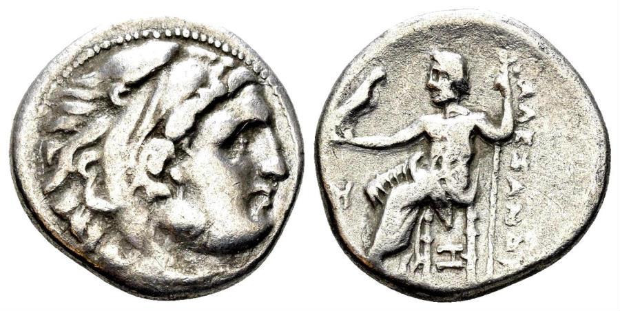 Ancient Coins - Macedonian Kingdom, Alexander III, 336-323 BC. AR Drachm (4.08 gm, 18mm). Abydos, 328-323 BC. Price 1535