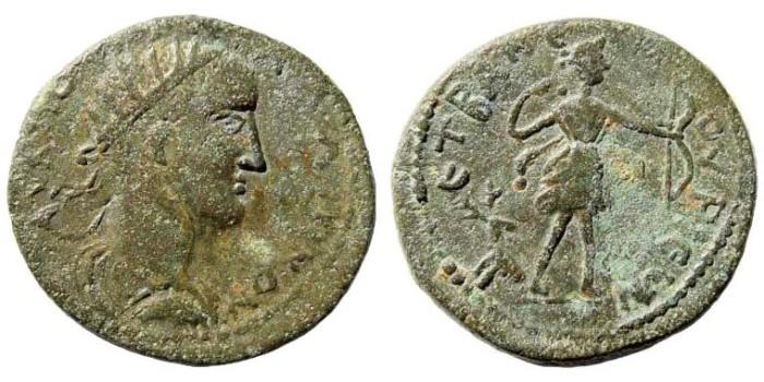 Ancient Coins - Kilikia, Anemourion. Galiienus, 253-268 AD. AE 22mm (6.02 gm). Dated year 2 (254/5 AD). Ziegler 233. Rare