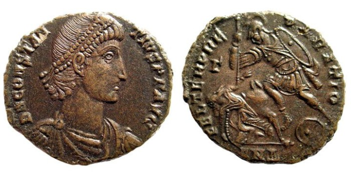 Ancient Coins - Constantius II. 324-361 AD. AE2 (5.08 gm, 23mm). Antioch mint, 351-354 AD. LRBC 2623