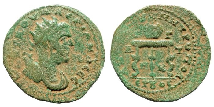 Ancient Coins - Cilicia, Anazarbus. Valerian I. 253-260 AD. AE 27mm (11.77 gm). Dated year 272, 253-4 AD. Ziegler, Anazarbos, 808.1 (same dies)