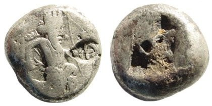 Ancient Coins - Achaemenid Kings. Circa 375-340 BC. AR Siglos (5.51 gm, 15mm). Carradice, Taf. XV, 46