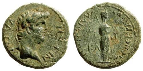Ancient Coins - Lydia, Maionia. Nero. 54-68 AD. AE 18mm (2.49 gm). ca. 65 AD. BMC 32. SNG Copenhagen 231. RPC I, 3011