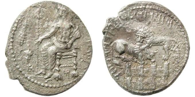 Ancient Coins - Cilicia, Tarsos, Mazaios, 361 334 BC, AR Stater (10.26 gm, 24mm). SNG Levante 115