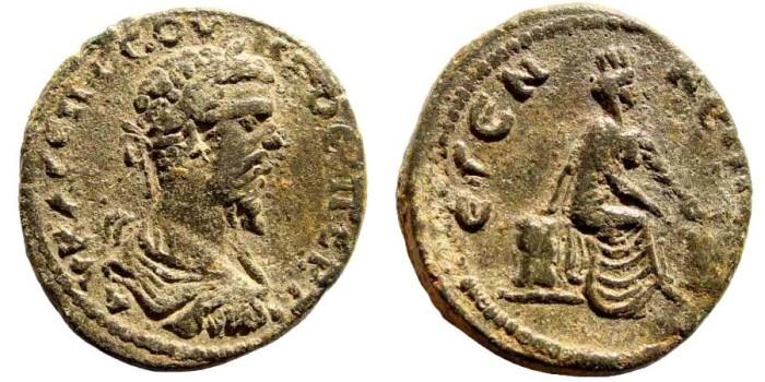 Ancient Coins - Pisidia, Etenna. Septimius Severus, 193-211 AD. AE 33mm (16.83 gm). Unpublished