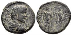 Ancient Coins - Kilikia, Flaviopolis. Caracalla. 198-217 AD. AE 23mm (9.94 gm). Dated CY 139 (211/2 AD). SNG Levante 1546