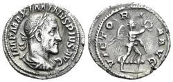 Ancient Coins - Maximinus I. 235-238 AD. AR Denarius (3.19 gm, 20mm). Rome mint. Struck 236 AD. RIC IV 16