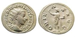 Ancient Coins - Gordian III, 238-244 AD. AR Antoninianus (3.88 gm, 22mm). Antioch mint. Struck 242-244 AD. RIC IV 213