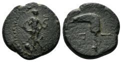 Ancient Coins - Pisidia, Etenna. 1st century AD. AE 15.5mm (3.65 gm). Hans von Aulock, Pisidien, 516-27