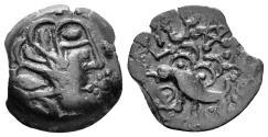 Ancient Coins - Northwest Gaul. Senones. Circa 100-60 BC. AE 15mm (3.22 gm). LT 7493