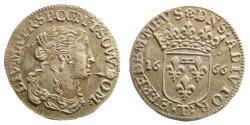 World Coins - Italy. Livia Centurioni Oltremarini (Filippo Malaspina, 1616-1688). Tassarolo, 1666. AR Luigino (2.07 gm, 20.5mm). Cammarano 368