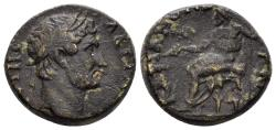 Ancient Coins - Lydia. Stratonikeia. Hadrian. 117-138 AD (5.88 gm, 16mm). Candidus, strategos. RPC III 1780