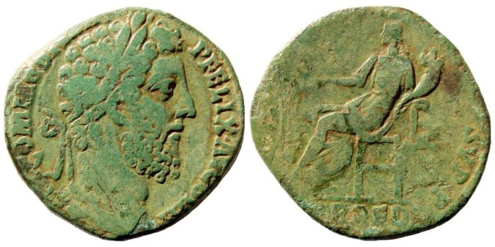 Ancient Coins - Commodus. 177 - 192 AD. AE Sestertius (23.74 gm, 29mm). Rome 187 - 187 AD. RIC 513; Cohen 153