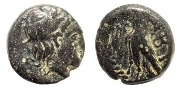 Ancient Coins - Troas, Abydos. Circa 385-335 BC. AE 11mm (1.26 gm). Cf. BMC 4, 33