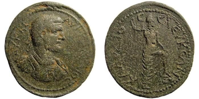Ancient Coins - Pisidia, Seleukeia Sidera. Claudius II. 268-270 AD. AE 35mm (23.89 gm). Hans von Aulock, Pisidiens II, 2041. Haevier than usual