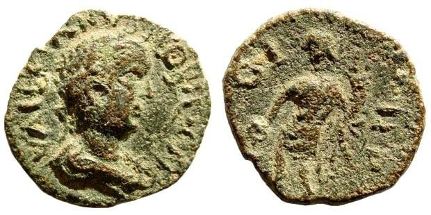 Ancient Coins - Mysia, Parium. Valerian II, 255-258 AD. AE 20mm (3.55 gm). SNG Copenhagen 310