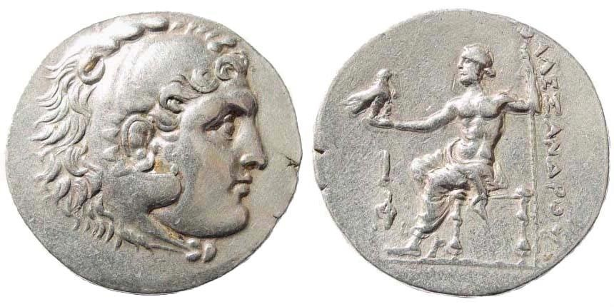 Ancient Coins - Macedonian Kingdom. Alexander III. 336-323 BC. AR Tetradrachm (16.70 gm, 31mm). Phaselis mint. Civic issue, dated CY 10 (209/8 BC). Price 2847