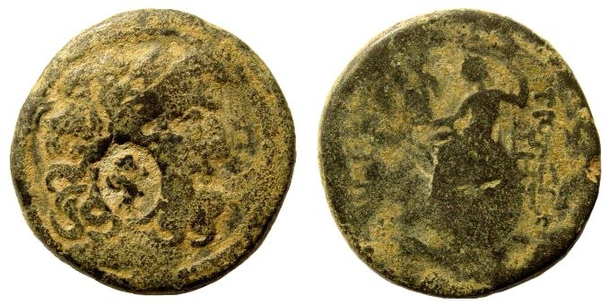 Ancient Coins - Syria, Seucia and Pieria, Antioch on the Orontes. Imperial Times. AE 25mm (11.79 gm). Cf. Lindgren/ Kovacs 1938 (with same countermark)