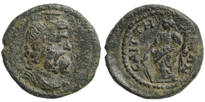Ancient Coins - Lydia, Saïtta. Imperial Times, ca 2nd century AD. AE 20mm (3.30 gm). Lindgren III, 506