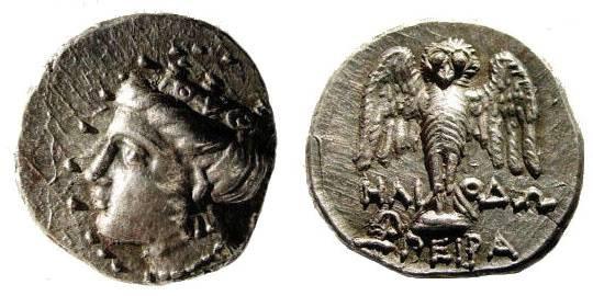 Ancient Coins - Pontus, Amisos (as Peiraeos). Circa 4th Century BC. AR Siglos (19mm, 5.62 g). SNG BM Black Sea 1074 (same reverse die)